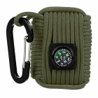 Outdoor Sports Multifunction Tool Kits w/ Compass / Carabiner - Army Green