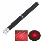 2-Mode 5mW Stars Shape 650nm Red Laser Clip Pointer - Black (2*AAA)