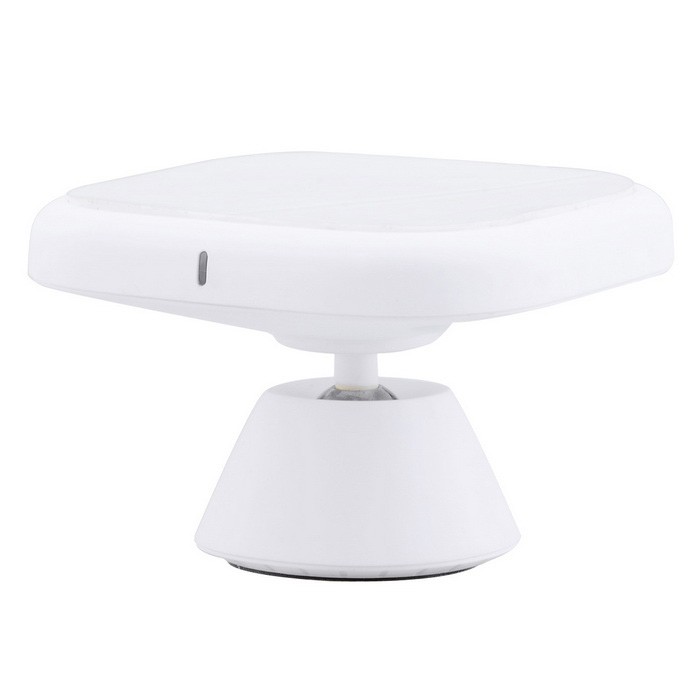 Qi Standard 360° Rotary Car Wireless Charger for Samsung S6 - White