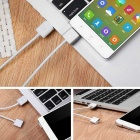 CY GT-172 USB Magnetic Charging Cable for Samsung + More - White (1m)