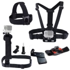 Kit accessori 7 in 1 per la sessione di GoPro Hero 4, 4 3+ 3 2 1 - Nero