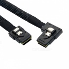 CY Flat Mini SAS 36 pines SFF-8087 a 8087 Data Raid Cable - Negro (80 cm)