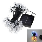 6W 50-LED Solar Powered Light Control Garden Decorative Light Holiday Light String Multi-color
