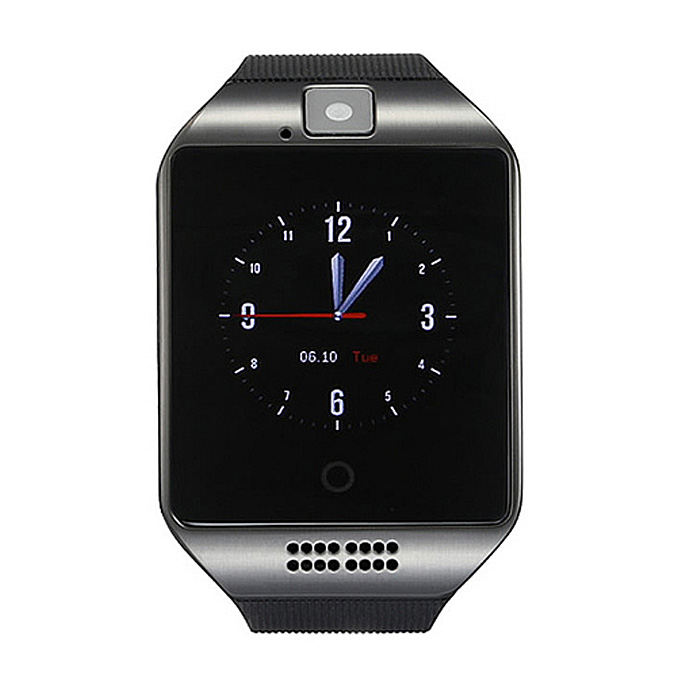 "Q18 1.54"" LCD BT montre intelligente w / sim, fente TF pour IOS / Android - noir"