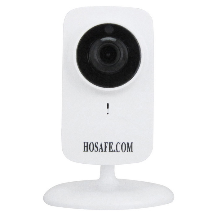 HOSAFE Wireless Plug/Play IP Camera w/ 2-Way Audi - - White (US Plugs)IP Cameras<br>Form  ColorWhitePower AdapterUS PlugsMaterialPlasticQuantity1 DX.PCM.Model.AttributeModel.UnitImage SensorCMOSImage Sensor SizeOthers,1/4 InchPixels1.0MPLens3.6mmViewing Angle90 DX.PCM.Model.AttributeModel.UnitVideo Compressed FormatH.264Picture Resolution1280 x 720PFrame Rate25fpsInput/OutputBuilt-in Microphone + SpeakerAudio Compression FormatMP3,WAVMinimum Illumination0 DX.PCM.Model.AttributeModel.UnitNight VisionYesIR-LED Quantity10Night Vision Distance10 DX.PCM.Model.AttributeModel.UnitWireless / WiFi802.11 b / g / nNetwork ProtocolTCP,IP,UDP,DHCP,uPnPSupported BrowserIE 6.0 and aboveSIM Card SlotNoOnline Visitor1000IP ModeDynamic,StaticMobile Phone PlatformAndroid,iOSFree DDNSYesIR-CUTYesBuilt-in Memory / RAMNoLocal MemoryYesMemory CardTF CardMax. Memory Supported64GMotorNoSupported LanguagesEnglish,Simplified ChineseWater-proofNoRate Voltage5VRated Current1 DX.PCM.Model.AttributeModel.UnitPacking List1 x IP camera1 x Power adapter (AC 100~240V / US plug / 100cm-cable)1 x Screws kit1 x English user manual<br>