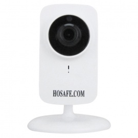 HOSAFE Wireless Plug/Play IP Camera w/ 2-Way Audi - - White (US Plugs)