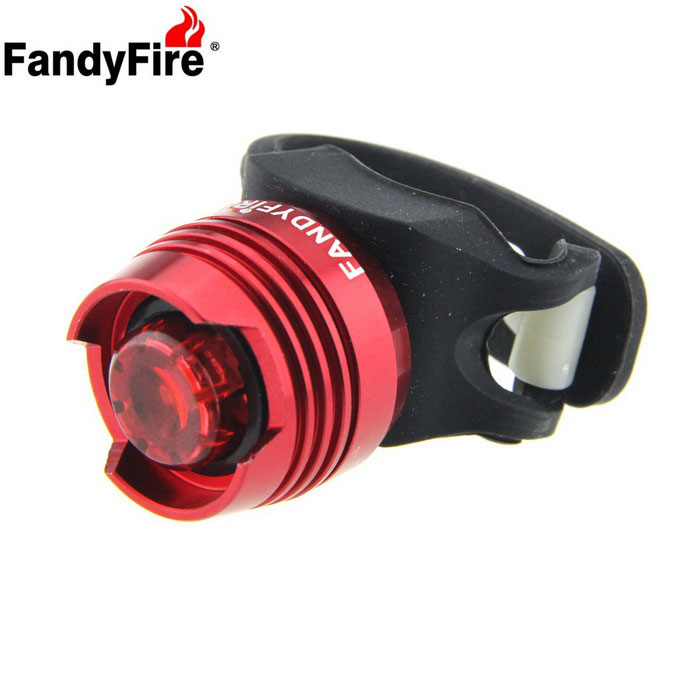 FandyFire LED 2.6lm 3-Mode Red Light Bike Tail Safety Light - Red