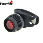 FandyFire LED 2.6lm 3-Mode Red Light Bike Tail Safety Light - Black (2 x CR2032)