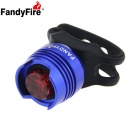 FandyFire LED 2.6lm 3-Mode Red Light Bike Tail Safety Light - Blue (2 x CR2032)
