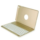 Prointxp Waterproof Bluetooth Keyboard Aluminum Alloy Case for IPAD AIR 2 - Golden