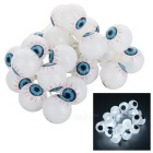 Eyeball Design White LED String Light - White + Blue (2m)