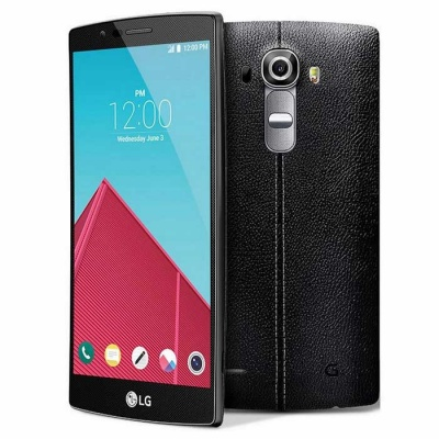 LG G4 H815 32GB ROM Leather Back Cover-Black