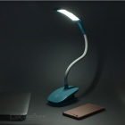 3-Mode Eye-Protection Desk Lamp w/ Clip, Smart Touch Switch - Blue