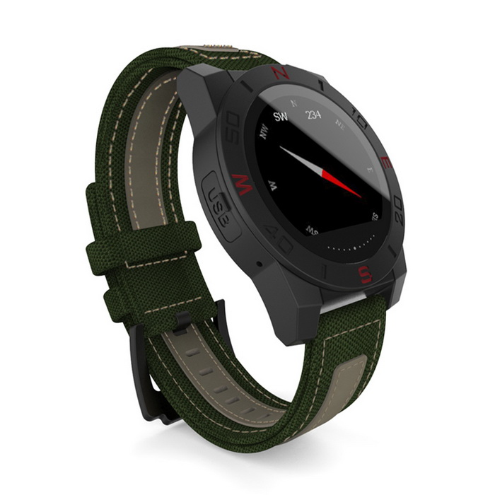 N10B MTK2501 Bluetooth 4.0 Smart Watch w/Compass Barometer-Green+Black