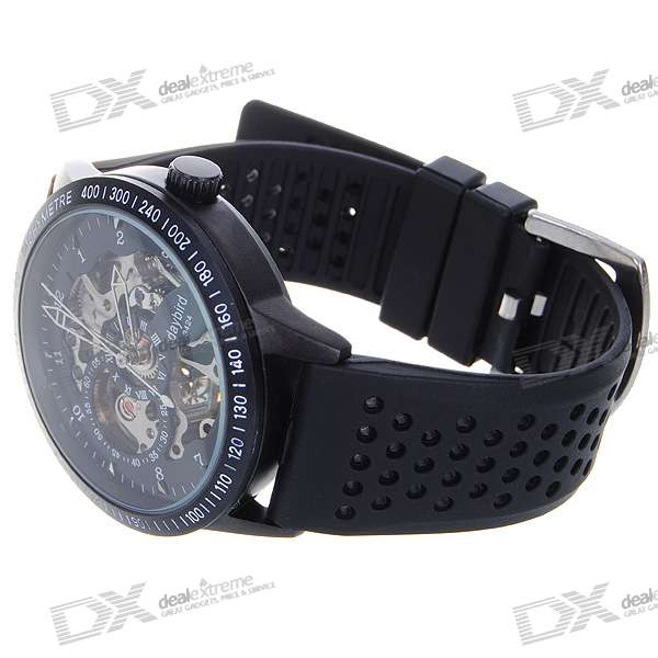 DayBird Stainless Steel Self-Winding Mechanical Wristwatch - Black