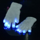 7-Colour LED Flashing Cotton Gloves - White (1Pair)