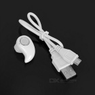 Hidden Wireless Bluetooth V4.0 In-Ear Earphone Headset w/ Mic - White