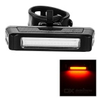 USB Rechargeable 1-LED 6-Mode Red Light Bicycle Bike Safety Warning Tail Light Lamp - Black + White