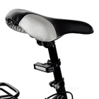 USB Rechargeable 1-LED 6-Mode Red Light Bike Light Lamp - White