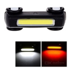 5-Mode Ultra-Bright USB Powered Taillight for Bike Red + White Light - Black + White