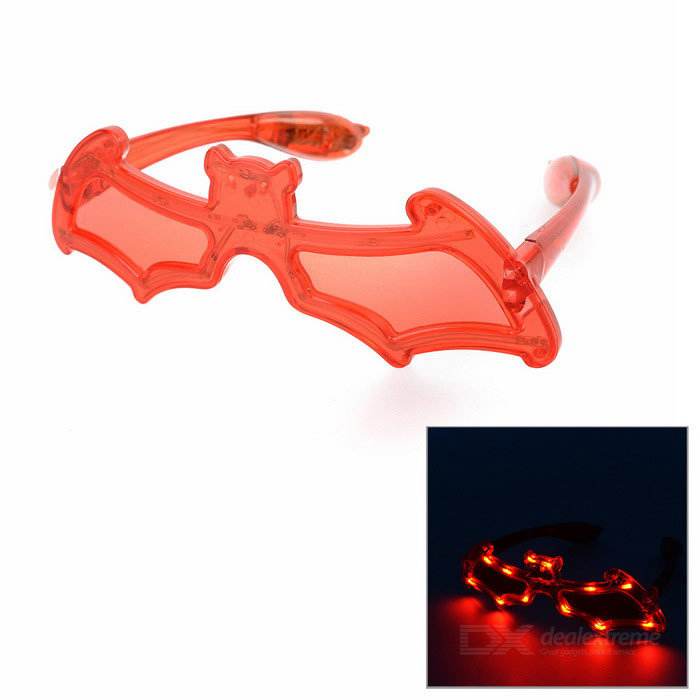 Bat style cosplay verres w / 12-LED rouge - rouge