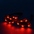Bat Style Cosplay Glasses w/ 12-LED Red Light - Red