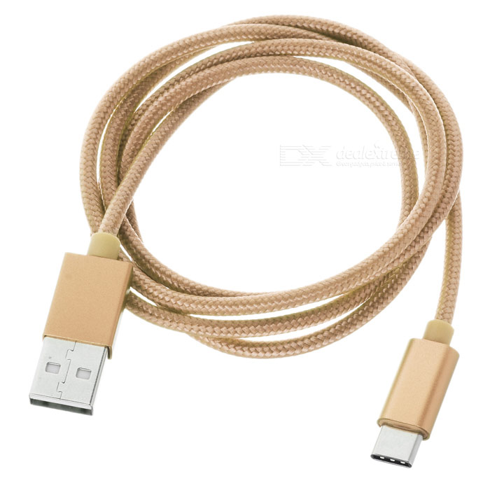 USB 3.1 Type C to USB 2.0 Data Charging Cable - Champagne Gold (102cm)