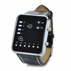 LED Binary Wrist Watch with Date Display - Black (1*CR2032)