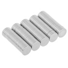 12*2mm Small Size Round Strong NdFeB Magnets - Silver (100PCS)