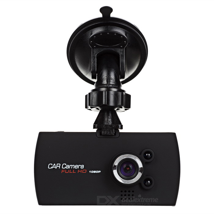 "2.7"" 1080P CMOS 140 '5MP carro DVR câmera w / 2 leds, registro de loop - preto"