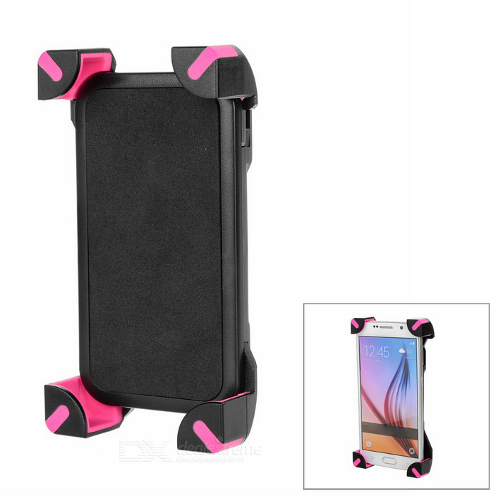 "Outdoor Cycling Bike Mount for 4.0~5.8"" Devices - Black + Deep Pink"