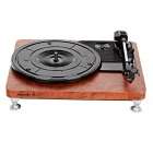 Shenle USB Powered 33/45/78RPM 3-Speed Vinyl Turntable w/ RCA Stereo Output Jacks - Black + Brown