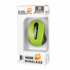 MAIKOU 2.4GHz Wireless Mouse w/ USB 2.0 - Green + Black ( 2*AAA)