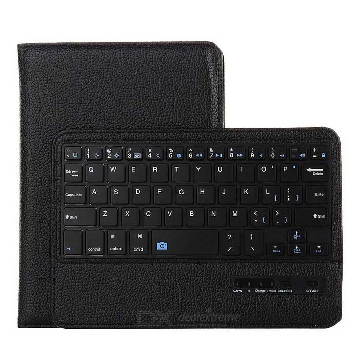 Wireless Bluetooth Keyboard & Protective Case for IPAD MINI - Black