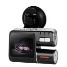 "1080P CMOS 170' Car DVR w/ 2.0"", Dual Camera, Loop Record - Black"