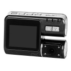 "720P COMS 170' Car DVR w/ 2.0"", Dual Camera, Loop Record - Black"
