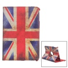 UK Flag Pattern Protective Flip-Open PU Full Body Case for IPAD MINI 4 - White + Red + Multi-Color