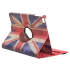 UK Flag Pattern PU Case for IPAD MINI 4 - White + Red + Multi-Color