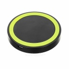 Qi Wireless Transmitter Charger Charging Pad for Samsung / LG / Google - Black + Green