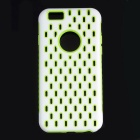 ROCS PC + TPU 2-in-1 Hollow-Out Heat Dissipation Back Case for APPLE IPHONE 6 / 6S - White + Green