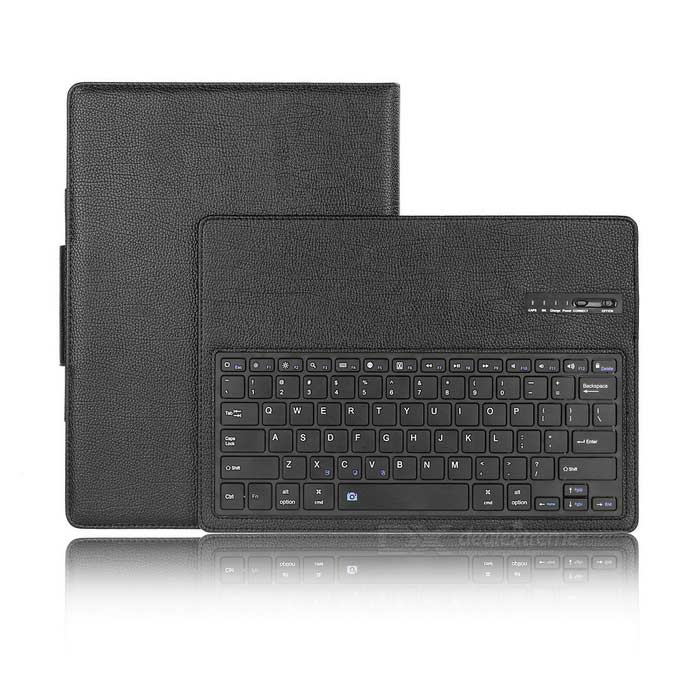 Separable Bluetooth V3.0 Keyboard Case w / 78 teclas para IPAD PRO - Negro