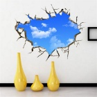 Creative 3D Sky Style Ceiling Wall Sticker Decal - Blue + White