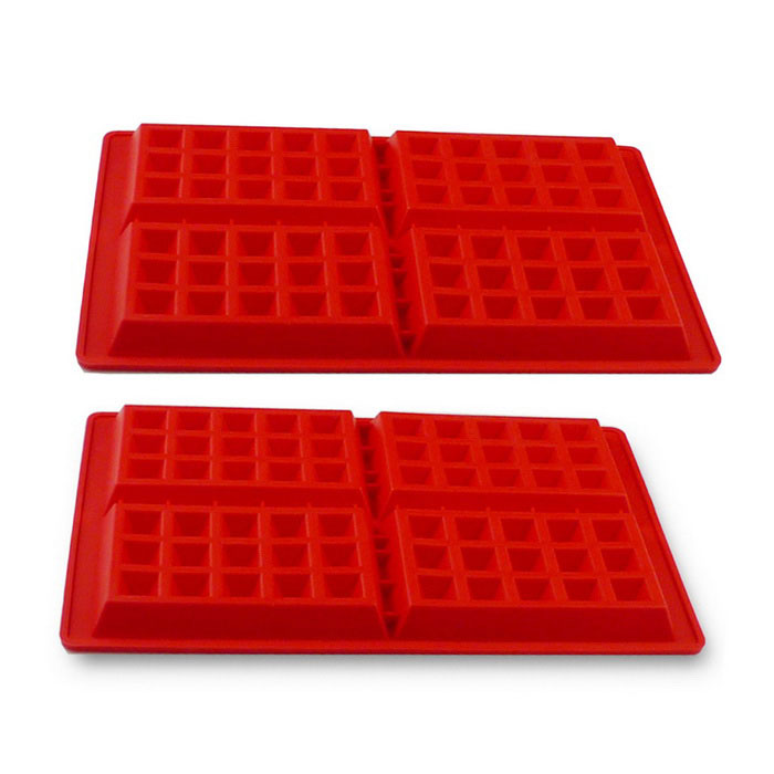 Classical Silicone Waffle Mold Tool - Red