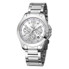 MEGIR Men's Fashion Multifunction Waterproof Stainless Steel Band Quartz Watch - Silver