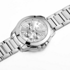 MEGIR Men's Fashion Waterproof Steel Band Quartz Watch - Silver