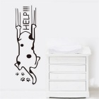 HELP Cartoon Carved Home Decorative Wall Sticker - Black