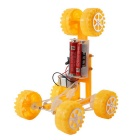 Handmade Six Deformation Car Model Puzzle Assembling Toy -Yellow