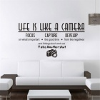 Life Is Like A Camera Living Room Bedroom Decorative Wall Stickers - Black