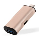 USB 3.1 Type-C Male to USB Female Extension Adapter - Golden