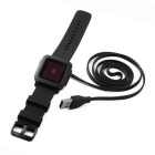 GT-189 USB 2.0 Charging Cable for Pebble Time Smart Watch - Black (1m)